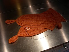 Clementine Shawlette in progress