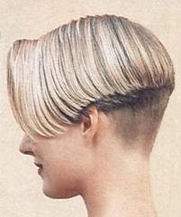 Iconic (hairxstatic) Tags: blonde shorthair nape napes invertedbob bobbedhair clipperednape invertedbobs buzzednape angledbobs