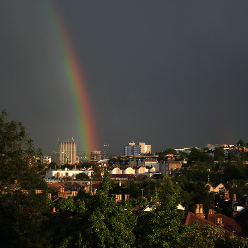Rainbow in the heart of Bristol!