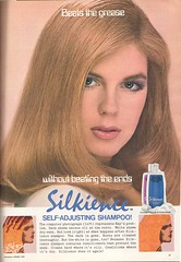 1980's Silkience Shampoo (twitchery) Tags: vintage hair feather shampoo 80s 70s conditioner blowdryer vintageads vintagebeauty