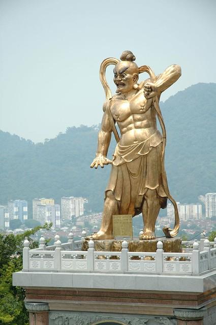 Weird statues abound