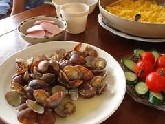 あさりバター / littleneck clam sauteed in butter
