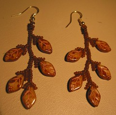 Handmade Earrings - Brown (Sent)