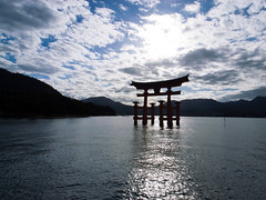 Torii(Sacred arch)@The Itsukushima Shrine