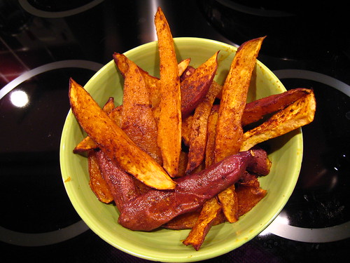 Sweet Potato Fries or 'Chips' as we say in the UK - From Vegan With a Vengeance
