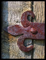 Past times (Gary*) Tags: door hinge wood old texture metal rust iron rustic xoxoxo mountfitchet flickrsbest lovephotography abigfave mountfitchetcastle flickrdiamond