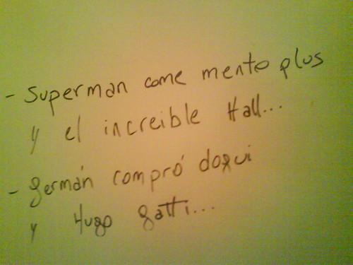 letrero en el baño