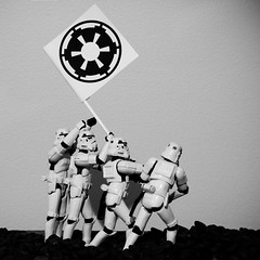 Raising the flag (-spam-) Tags: blackandwhite canon square toy 50mm 4x4 flag plastic stormtrooper imperial 365 figurine spacetrooper 40d