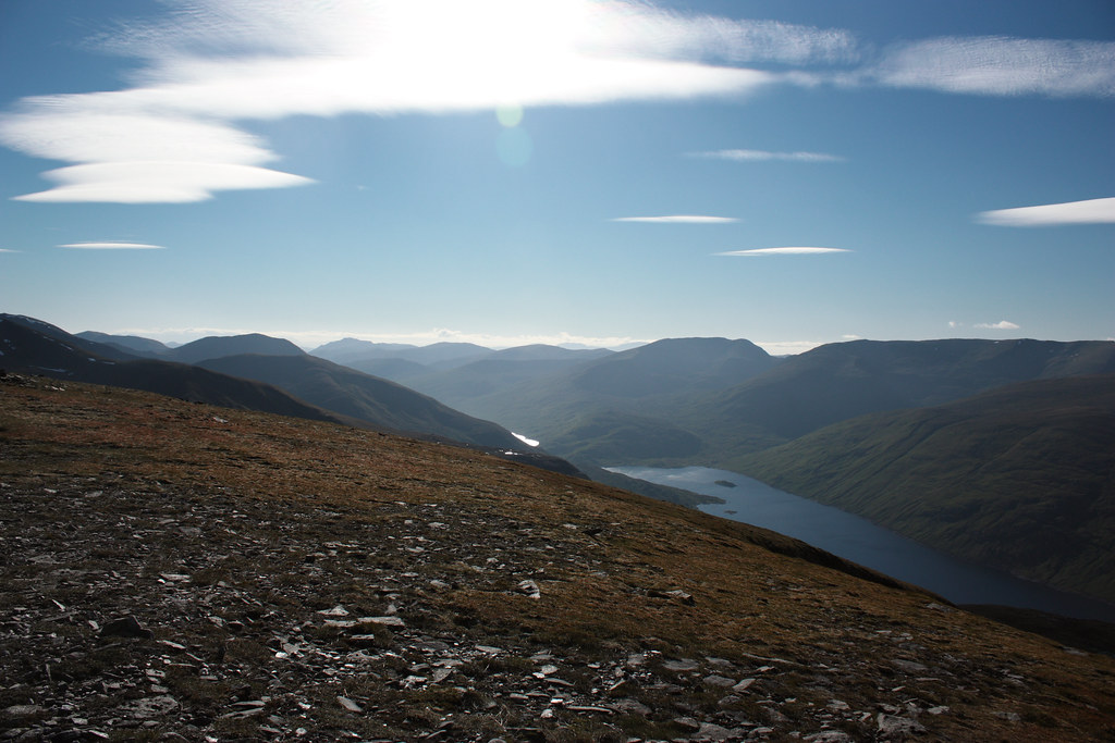 West over the head of Loch Mullardoch