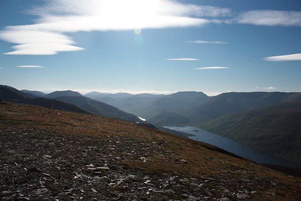 West over the head of Loch Mullardoch