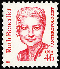 A stamp honored Ruth Benedict in 1995