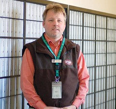 Burns Postmaster George Sieveking moved to Harney County from Alaska with his wife, Donna, and two boys, Tyler and Jason. (Photo by LAUREN BROWN)