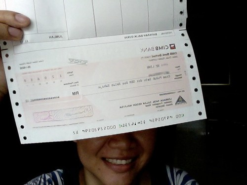 received a cheque from Lembaga Hasil Dalam Negeri for the tax I