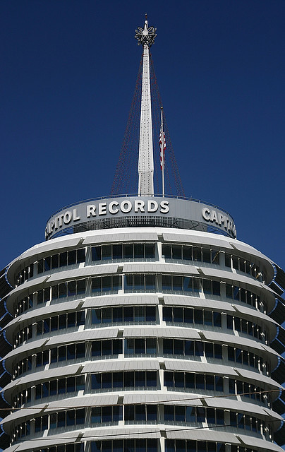 The Capitol Records building.