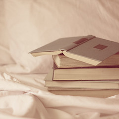 When I read a book I seem to read it with my eyes only, but now and then I come across a passage, perhaps only a phrase, which has a meaning for me, and it becomes part of me. ({life through the lens}) Tags: reading soft books dreamy oldbooks ilovereadinginbed mkcollaboration