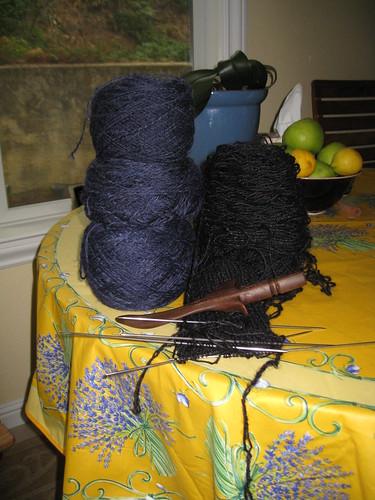 hand spun gansey yarn