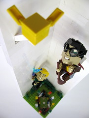 Pursuit of the Snitch (anderson.grubb) Tags: lego harrypotter quidditch cubedude cubedudes