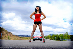 Pinup Erika Texas Timebomb 1955 Red Ford Thunderbird Re-edit-1 (christopherallisonphotography) Tags: hot up classiccar pin sandiego rod poway viva pinup kustom kulture kustomculture rockabillyboy72 christopherallisonphotography girlwomenfordthunderbirdgarderfishnetlegsblackhaircolormodelrockabillycloudsroad carhoodgirl
