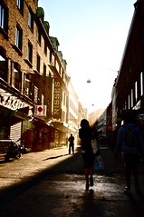girl on the street | Nikon D90 (lomostream) Tags: street city houses sunset sun holiday streets girl nikon sweden goeteborg d90 nikond90 nikongraphy