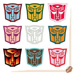 My Transformers Sticker 自製變形金剛貼紙