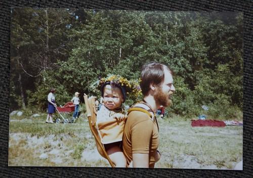 Jag och pappa på midsommar 1978