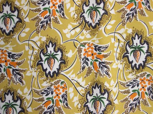 vintage  mustard fabric
