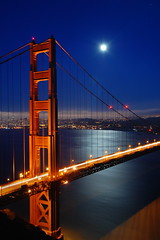 Golden Gate, by Moonlight [1] (Tyler Westcott) Tags: sanfrancisco california longexposure moon night explore goldengatebridge goldengate sfchronicle96hrs nikond40 simplyyourbest colourartaward artlegacy