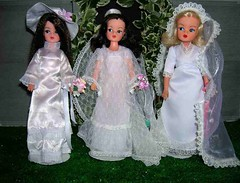 L-R Wedding Bells 76, Beautiful Bride 77, Blushing Bride 78 (Dazedbydolls) Tags: weddings sindy