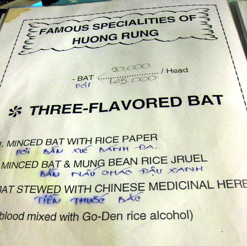 Bat is on the menu