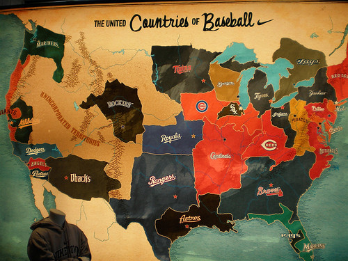 Map of Major league baseball