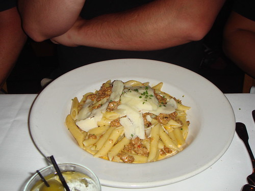 Hal's penne with sausage