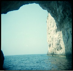 Cave (Squid Ink) Tags: holga greece paxos