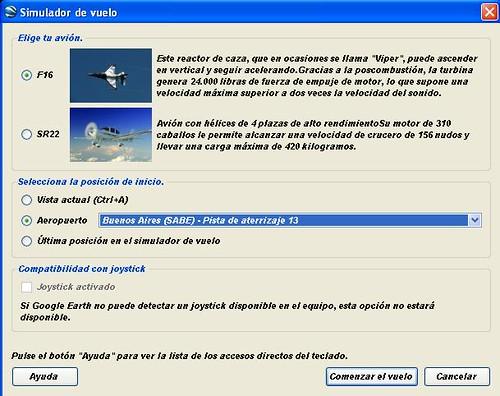 google earth aviones