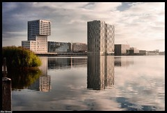 Skyline Almere-Stad (Alex Verweij) Tags: alex water skyline canon perfect blauw photographer shots compositions wolken sidebyside zon extraordinary flevoland stad thewave almere outstanding the reflectie silverline vwc weerwater canon400d anawesomeshot kvwc coolestphotographers kuwaitvoluntaryworkcenter kuwaitvwc
