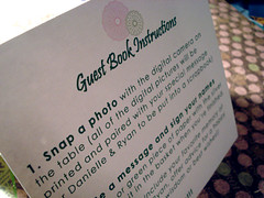 guest book instructions