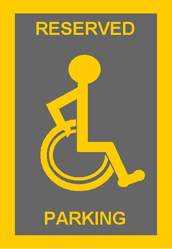 Risultati immagini per parcheggio disabili logo