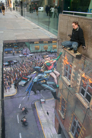 Batman - Coolest Chalk Drawing Ever