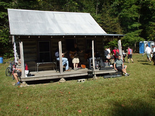 Cabin with bluegrass band