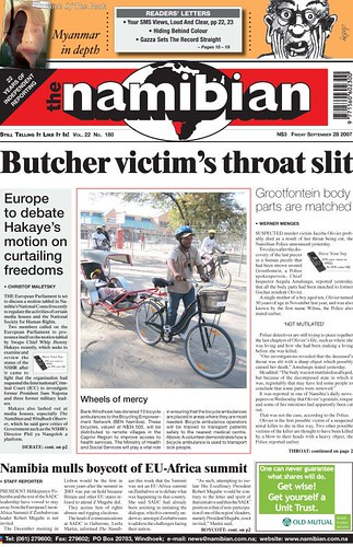 Continental Bicycle Tires >> Kona BikeTown Africa: BikeTown featured in Namibian Newspaper