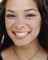 Kristin Laura Kreuk (VibroFon) Tags: people wearing smiling portraits photography 1 women colorphotography performingarts longhair jewelry northamericans prominentpersons celebrities whites females brunette performers adults canadians necklaces actresses facialexpression youngadults headandshouldersportraits studioportraits clothingaccessories kristinkreuk headandshouldersstudioportr televisionactresses