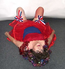 Me, Halloween? Maybe I go as Miss America? (Sugarbarre2) Tags: city blue red vacation people urban woman usa white holiday cute girl face mom fun photo nikon play mature wife fishnets