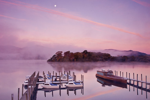 Mist and moonlight at Derwentwater