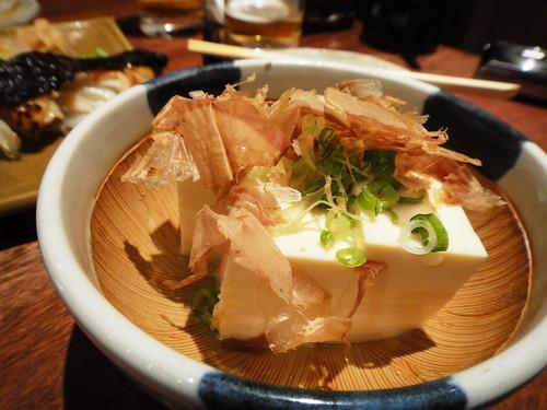 Hiyayakko tofu at Jinkichi