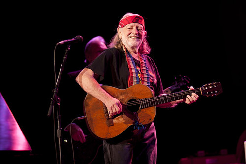 Willie Nelson at the Rialto Square Theater on November 1, 2010 in Joliet, Illinois.