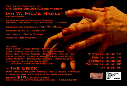 Ian W. Hill's Hamlet - postcard back