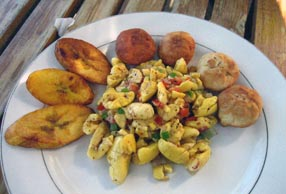 Ackee breakfast
