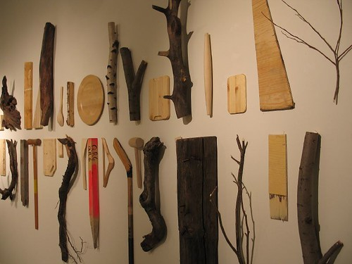 Work by Norweigian artist Erlend Leirdal in Exhibition: story of trees in Norsu Gallery, Helsinki, 2006