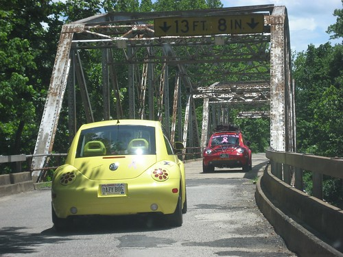 Beetles driving over the Devil's Elbow