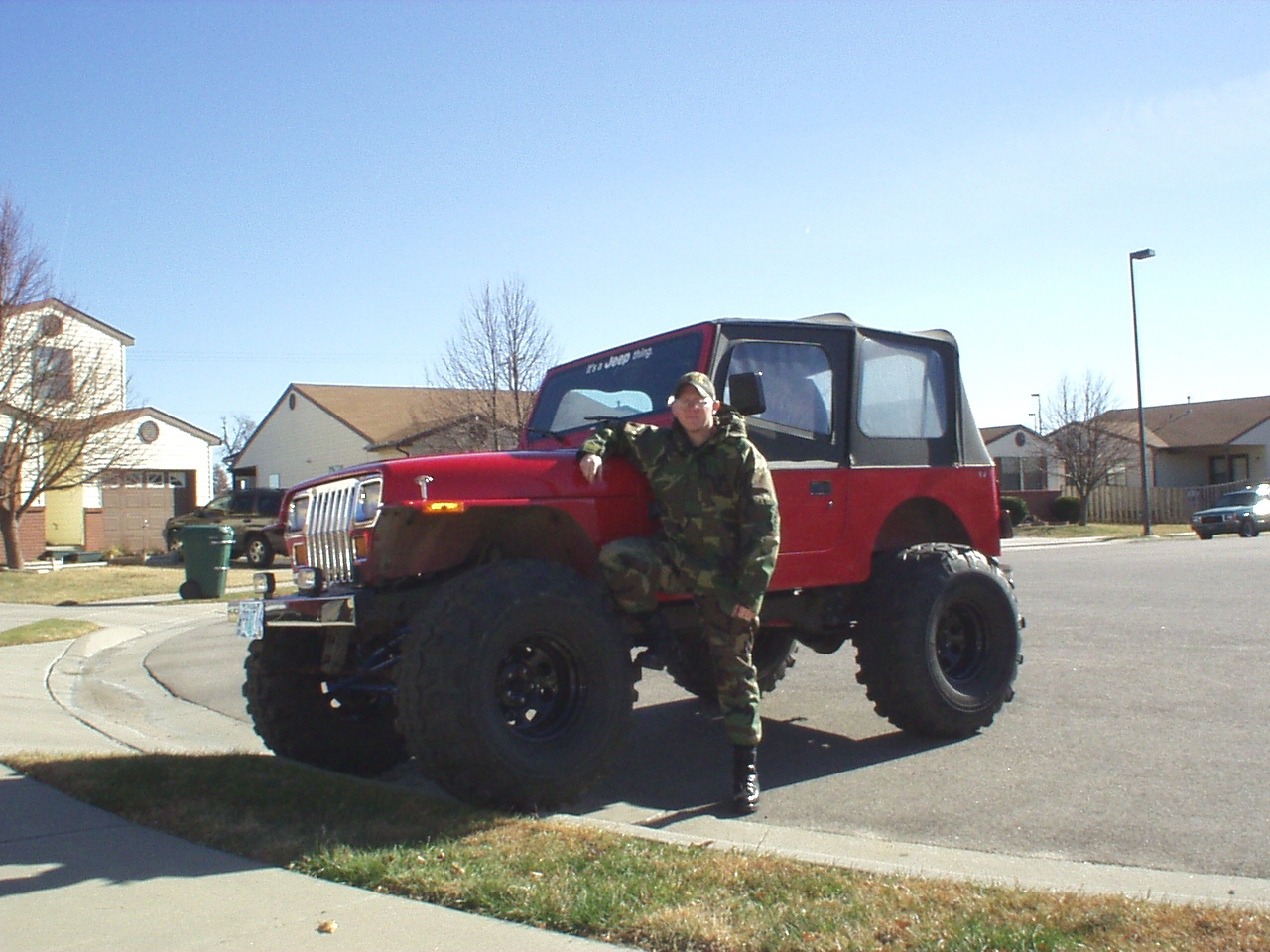 Old jeep old uniform