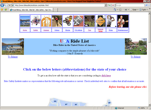 Bike Safety Institute website